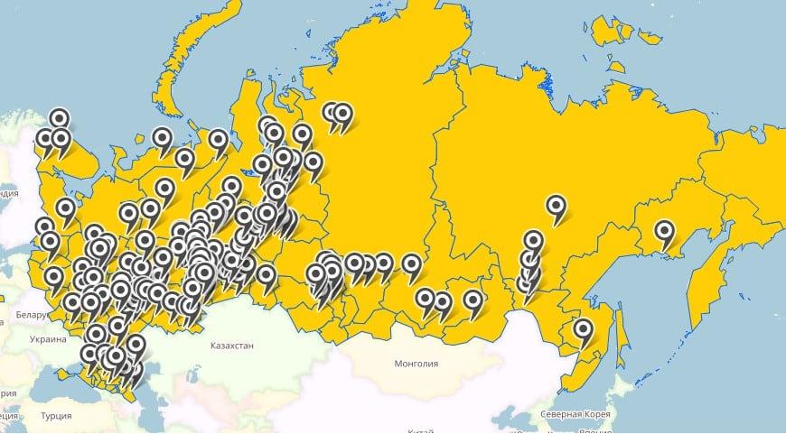 Карта отгрузок